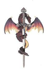 "11"" Inch Dragon and Sword Statue Figurine Figure Fantasy Myth"