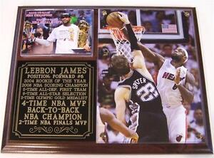 LeBron James #6 2013 NBA Champion Miami Heat 4-Time NBA MVP Photo Plaque