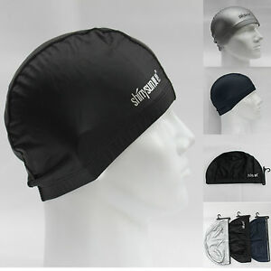 Men Women Adults Lycra with PU Coating Swimming Cap Hat Extra Large