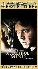 A Beautiful Mind VHS 2002 Awards Edition Russell Crowe Jennifer Connelly