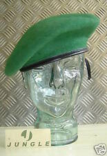 Green Wool Military Style Beret / Berret. Size 7 1/4 - NEW