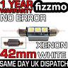 42mm 3 SMD LED 264 C5W CANBUS NO ERROR FREE WHITE INTERIOR LIGHT FESTOON BULB
