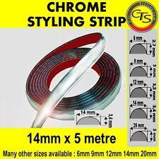 14mm x 5m chrome style bande de moulage voiture garniture adhésif