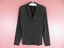 STK1534- CHICO'S TRAVELERS Woman Slinky Knit Jacket w/ Pockets Dim Gree
