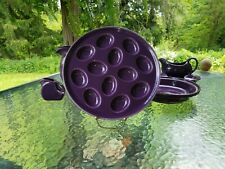 "FIESTA 11.1"" EGG TRAY PLATE PLATTER mulberry purple NEW"
