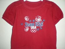New-Mended- Olympics Team USA Infant Girls 18 Months (18M) Shirt & Shorts Set
