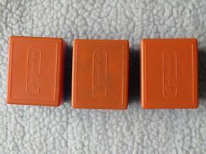 Agfacolor vintage white/blue plastic colour slide mounts and 3 orange/blue boxes
