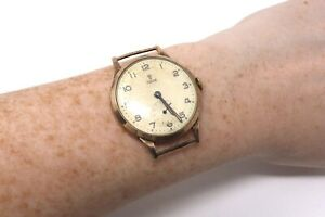 A Brilliant Vintage C1957 9ct Yellow Gold Rolex Tudor Manual Wristwatch #28773