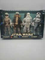 Star Wars Action Collection Luke Skywalker Han Solo Snowtrooper At-At Driver 12""