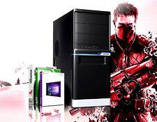 PC Computer GAMER A8 Quad Core 16GB RAM 250GB SSD 2TB HDD HD7560 Windows 10 Pro