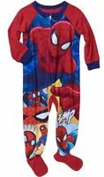 Marvel Spiderman Toddler Boys Footed Pajamas Sz 18M 24M 3 4 5T