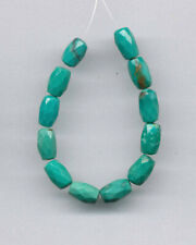 "FACETED CLOUD MOUNTAIN SPIDERWEB TURQUOISE BARREL BEADS - 4"" STRAND - 2453"