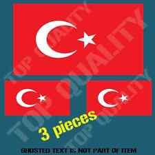 TURKEY TURKISH NATIONAL FLAG DECAL STICKER HARD HAT VEHICLE HELMET STICKERS