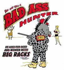 BAD ASS JACK ASS HUNTER HUNTING DEER FUNNY T-SHIRT BA6