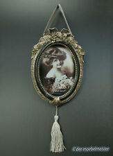 Barock Bilderrahmen Fotorahmen zum Aufhängen silber schwarz Rokoko Stil Antik
