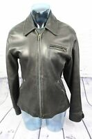 Susie Tompkins Black Lambskin Leather Full Zip Lined Motorcycle Jacket Size M