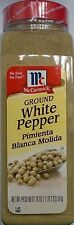 McCormick Ground White Pepper 18 oz - Spice Spicy Seasoning Black Cooking Flavor