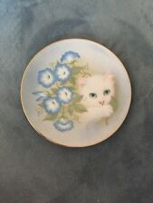 Hamilton Collection Morning Glories Petals And Purrs Collectors Plate
