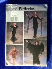 Butterick Sewing Pattern 3554 Halloween Costume Size 12,14,16 Goth Vampire Uncut