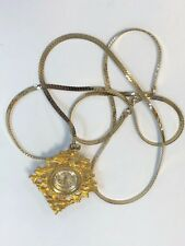 Vintage Ladies SHEFFIELD Mechanical Wind Up 17 Jewel Pendant Necklace