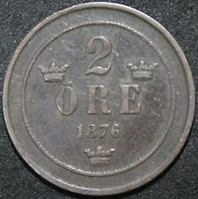More details for 1876/5 | sweden 2 ore | bronze | coins | km coins