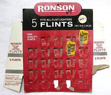 Vintage - Ronson Lighter  Flints - Display Card - Advertising - USA