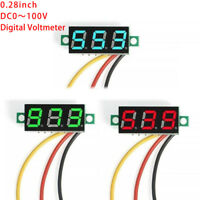 DC 0-100V Wires LED 3-Digital Mini Voltmeter Meter Display Voltage PanelTeste Gw