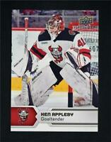 2017-18 17-18 UD Upper Deck AHL Hockey Base #21 Ken Appleby