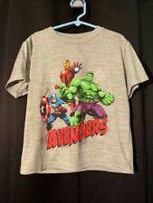 Boys Marvel Avengers Size 5/6 Gray 100% poly T-shirt