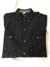68863fd5bed CPO Navy Pattern Button-Down Shirt Urban Outfitters Size M