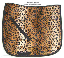 "QUALITY  UNIQUE ""BROWN LEOPARD""  DRESSAGE SADDLE PAD ANIMAL PRINT"
