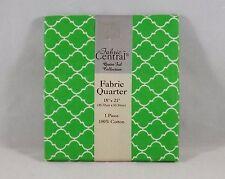 #139 Fabric Central 100% Cotton Pre Cut Fat Quarter - New - Green & White