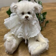 "NEW Adorable Handmade Mohair Artist Bear by Joan Woessner ""White Chocolate"""