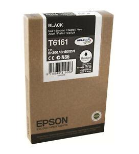 Original Epson T6161 Black B-300 B-310N B-500DN B-510DN - Boxed - 08/2017