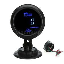 "CAR 2"" 52mm UNIVERSAL DIGITAL OIL TEMPERATURE TEMP METER GAUGE BLUE LED C6U3"