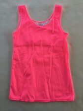 JUSTICE GIRLS 18 NWT SOLID PINK TANK SHIRT 18 NEW wow
