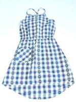 Hanna Andersson Gingham High Low Sundress 150 12 years girls