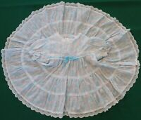 VTG New York Kids Blue+Pink SS Dress Girl 18 mo EUC Circle Skirt Lace Tiers