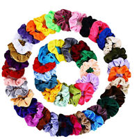 46PCS Women Girls Scrunchy Hair Ties Scrunchies Accessories Velvet Handbrand New