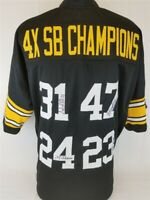 Steelers SB Champs Signed Jersey (TSE) Shell, Mel Blount, Mike Wagner, JT Thomas