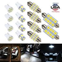 14pcs White LED Light Interior Kit for T10 & 31mm Map Dome + License Plate 6000K