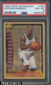 1996 Topps Youthquake #YQ3 Stephon Marbury Timberwolves RC Rookie PSA 8 NM-MT