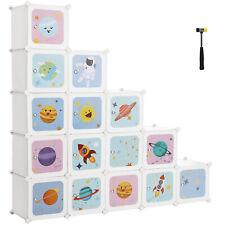 Kinderregal mit 16 Fächern Kinderschrank Aufbewahrungsschrank Steckregal LPC902W