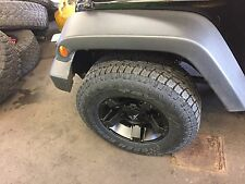 "17"" Xd Rockstar 3 Black Wheels Jeep Wrangler Jk 33"" Toyo At2 Tires Package"