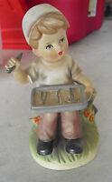 "Vintage Napcoware Sitting Doctor Boy Figurine C8421 6 1/4"" Tall"