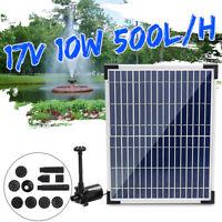 500L/H Solar Panel Powered Water Feature Pump Garden Pool Pond Aquarium Fountain