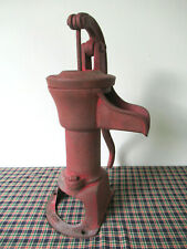 Antique Water Well Pump Vintage Cast Iron COLUMBIANA PUMP CO, Ohio, Red Paint
