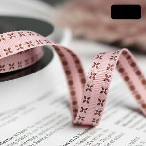 X Edge Grosgrain Ribbon 9 Colors - 1cm 2.5cm 4cm Widths - Flower Gift Decoration