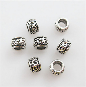 Tibetan Spacer Beads: Set of 50 Spacer Beads - UK Stock