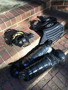 RawlingsYouth Gear Ages 9-12 BLACK Baseball Catchers Set*GREAT*
